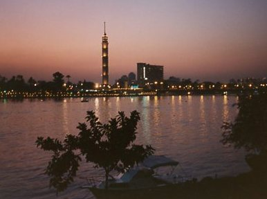 EGYPT Cairo skyline 1989