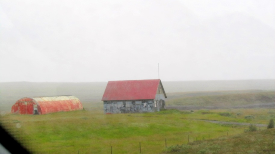 It rained on the way home from the glacier.