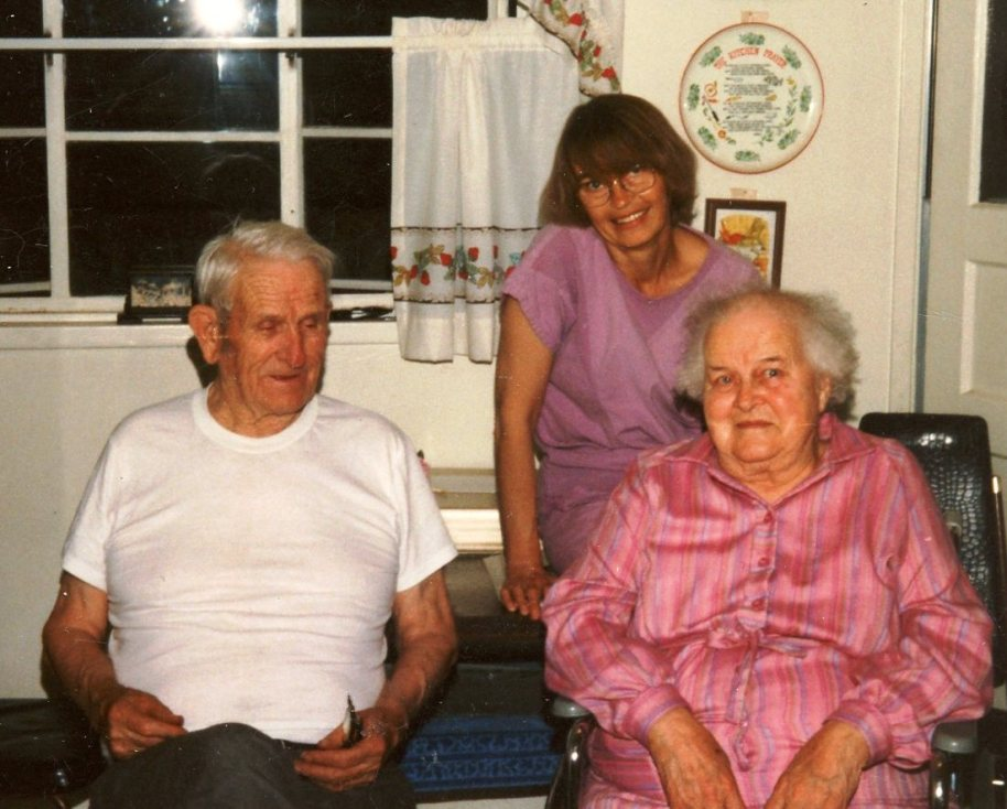 Dad, Mom and me. Quite awhile ago.