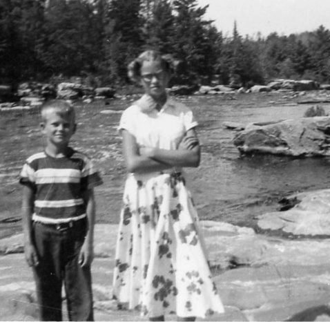 Robert and me...on the Littlefork River or is that the Bigfork River? I was bossy and he was tricky...