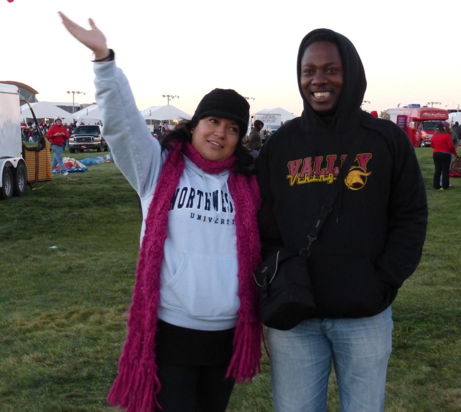 Bryn and Panaibra at Balloon Fiesta.