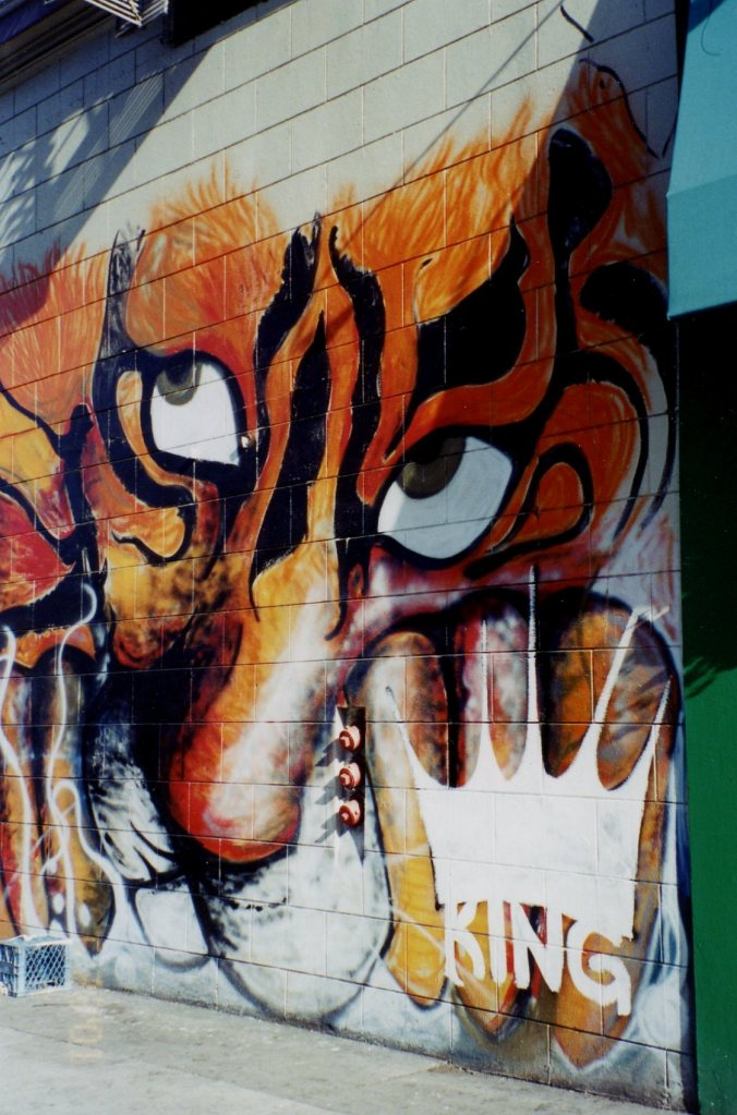 A devilish dude gracing a wall somewhere in San Francisco a long time ago. Just seemed like a devil worked for this post.