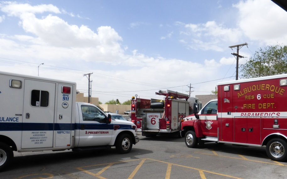 Your tax dollars at work. One frail person needed to go to the emergency room.