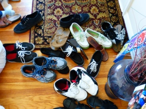 Filipino household! NO SHOES PASSED THIS POINT.