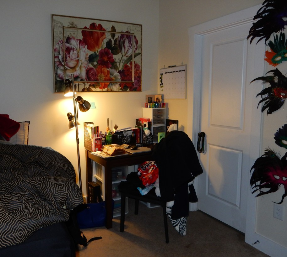 HER ROOM, THE CLUTTER IS ALL MINE. ALMOST.