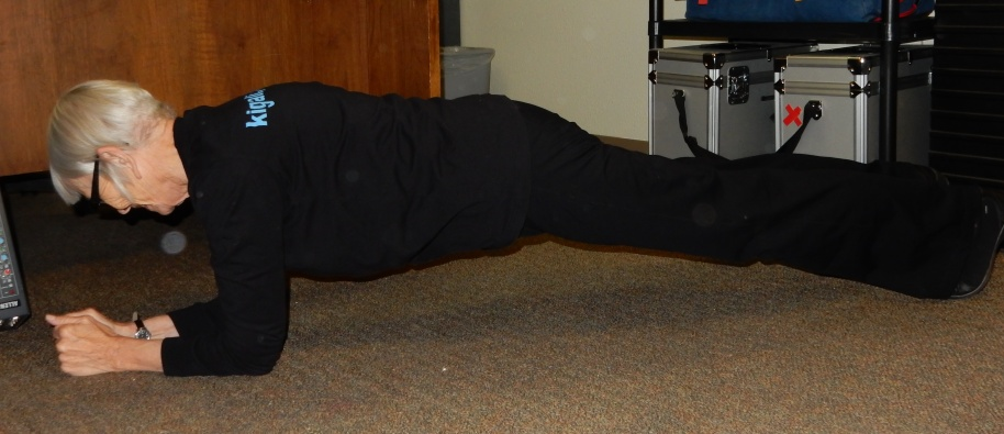 My Best Plank. Practicing on the not-very-clean-floor of the tech office at work.