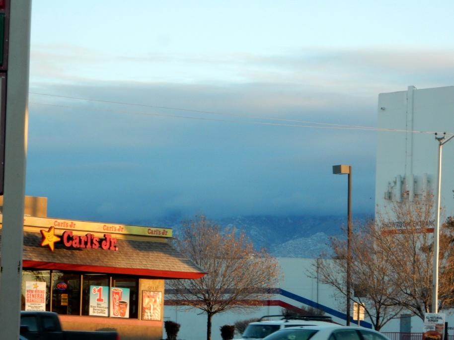 Sun comes out...of course, it's Albuquerque.